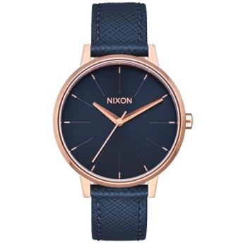 ニクソン NIXON ケンジントンレザー KENSINGTON LEATHER 腕時計 レディース ネイビー/ローズゴールド NA1082195-00