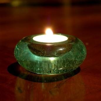 キャンドルホルダー ガラス ドーナツ型 [66312] ロウソク立て キャンドル立て ロウソクスタンド キャンドルホルダー バリ アジアン雑貨