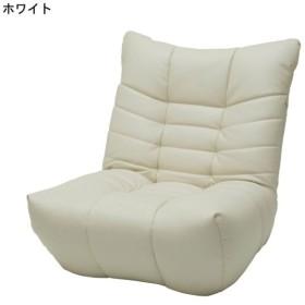 座椅子 おしゃれ 合皮のパーソナルソファー カラー ホワイト