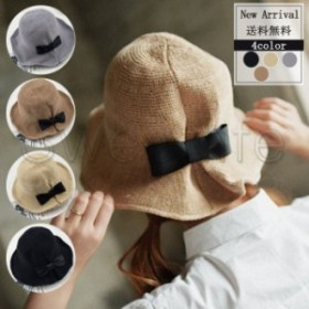 夏新作 麦わら帽子 綿麻 レディース UVカット サファリハット つば広帽子 折りたたみ 日焼け止め 旅行 紫外線対策 送料無料