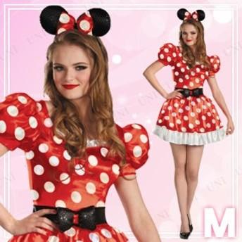 ミニーマウス クラシック 大人用 M(8-10) 仮装 衣装 コスプレ ハロウィン 余興 大人用 コスチューム 女性 ディズニー ミニーマウス 女性