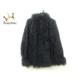 ノーベスパジオ コート サイズ38 M レディース 黒 ファー(山羊)/NOBORU YAMAFUJI/冬物        値下げ 20190420
