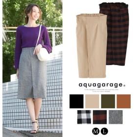 aquagarage ハイウエスト ラップタイトスカート レディース