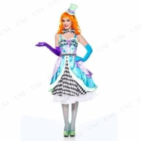 !! ミス・マッドハッター SM 衣装 コスプレ ハロウィン 仮装 余興 グッズ 大人 帽子 レディース 不思議の国のアリス コスチューム マッド
