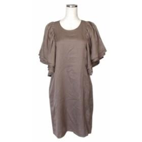 美品 BEAMS ビームス フリルスリーブワンピース (ドレス 半袖) 115458【中古】