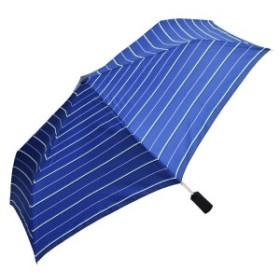 【限定】【ROUオリジナル】 HUS ハス S/AOC エアー マルチボーダー ネイビー 雨晴兼用 折りたたみ傘