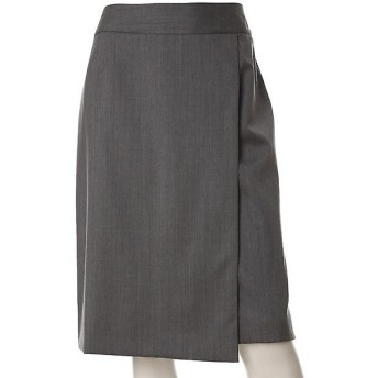 INED L / イネド(エルサイズ) 《大きいサイズ》ステッチアクセントフレアスカート
