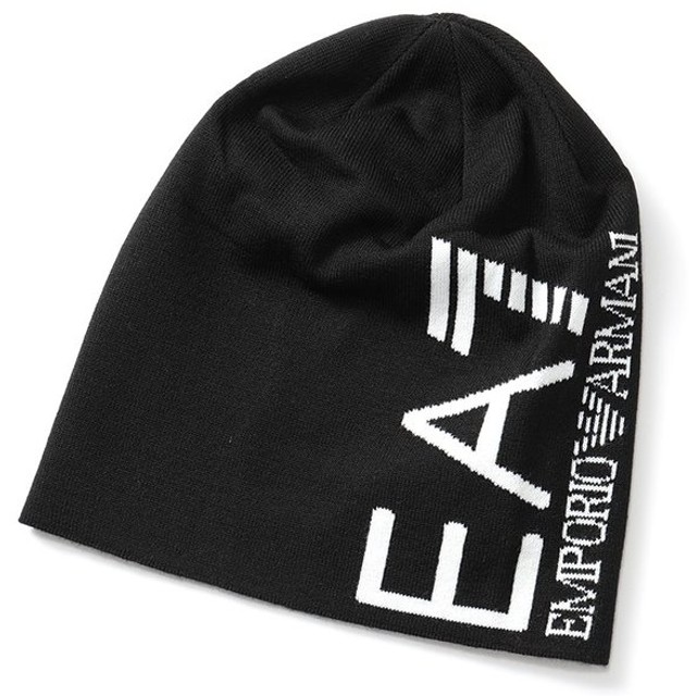 EA7 EMPORIO ARMANI エンポリオアルマーニ 285382 8A393 ニットキャップ ニット帽 ビーニー 帽子 カラー39220/JETBLACK メンズ
