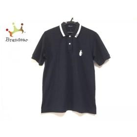 アクアスキュータム Aquascutum 半袖ポロシャツ レディース ダークネイビー×白 Golf 新着 20190929