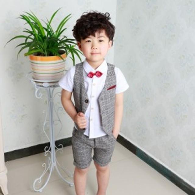 30a959d81c343 子供スーツ フォーマル 男の子 キッズ 4点セット 入学式 卒業スーツ 七五三 ピアノ発表会
