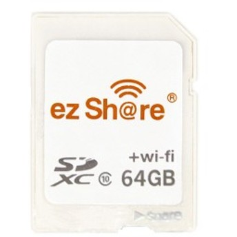 64GB CFastカード コンパクトフラッシュ ezShare Wi-Fi機能 Android / iOS両対応 海外リテール Wi-FiSD-64G ◆メ
