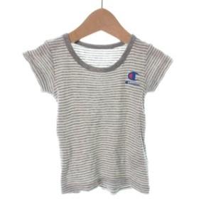 CHAMPION  / チャンピオン キッズ Tシャツ・カットソー 色:グレー系(ボーダー) サイズ:80(12M)