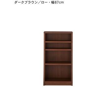 本棚 書棚 ブックシェルフ 頑丈棚板のシンプル本棚 ダークブラウン