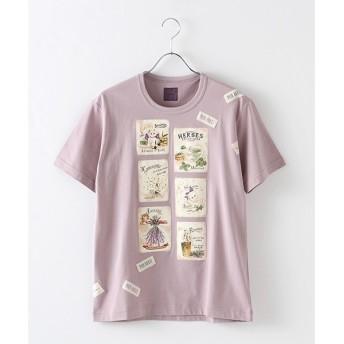 PINK HOUSE / ピンクハウス ハーバルキャットプリントTシャツ