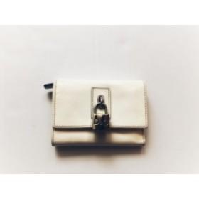 ディーアンドジー D&G 3つ折り財布 レディース 白 鍵 エナメル(レザー)【中古】