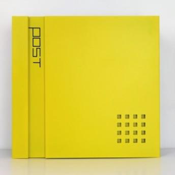 郵便ポスト郵便受けおしゃれ北欧大型メールボックス 壁掛け鍵付マグネット付 イエロー 黄色ポストpm469
