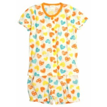 パジャマ 子供 キッズ 女の子 海あそび柄 丸首 前開き 半袖 パジャマ 寝巻き 子供パジャマ キッ