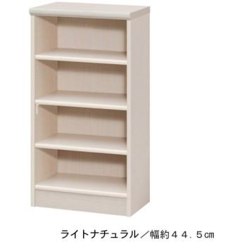 本棚 書棚 ブックシェルフ オープンラック 高さ約88.5cm ライトナチュラル