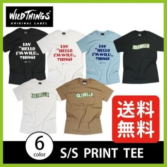 ワイルドシングス S/S プリントT WILD THINGS | 正規品 | Tシャツ 半袖 メンズ ロゴ 快適 SAYHELLO セイハ フェス
