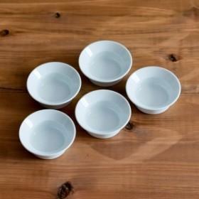 TY Round Deep Plate Plain White 80mm 5個セット ( 1616 / arita japan ラウンドディーププレート 食器 ホワイト 小鉢 小皿 )