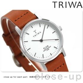 15日なら全品5倍以上でポイント最大25倍 TRIWA トリワ 時計 スウェーデン 北欧 シンプル 革ベルト 28mm レディース 腕時計 エルバ ELST101-EL010212