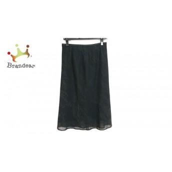 ニジュウサンク 23区 スカート サイズ40 M レディース 黒×ダークブラウン スペシャル特価 20190728