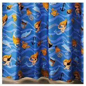 【送料無料!】人魚姫。アレルGカーテン(おとぎのまち) ドレープカーテン(遮光あり・なし)