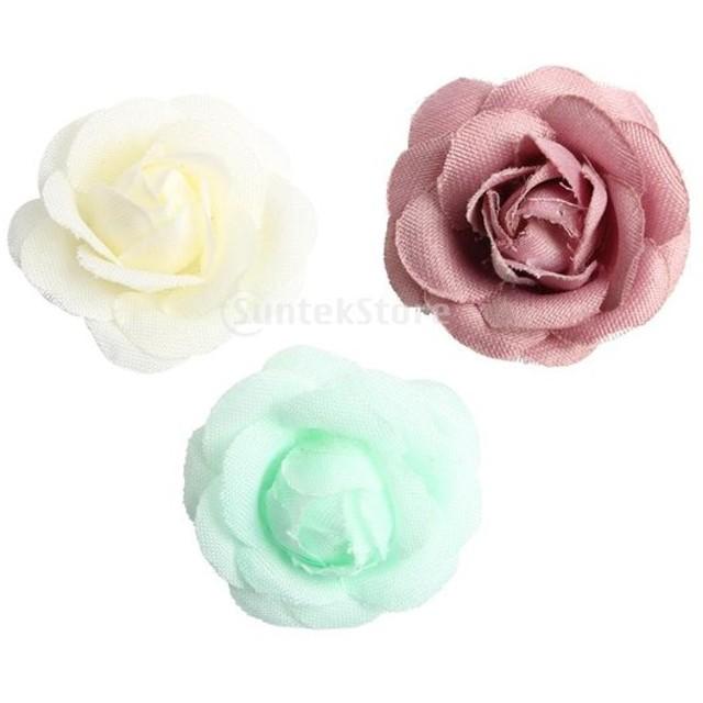 シルクの花 シルクフラワー ウェディングブーケ ブライダル DIY パーティー 結婚式 装飾 約20個
