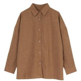 ユアーズ ur's リネンライクワイドシャツ (ブラウン)