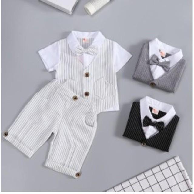 bbecc77ad32e5 子供服 フォーマル スーツ ベビー服 ベスト風 赤ちゃん 子供 男の子 キッズ 上下セット おしゃれ 出産祝い