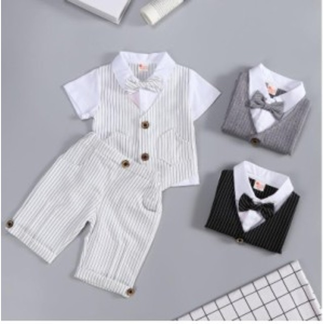 b37fa6b323db0 子供服 フォーマル スーツ ベビー服 ベスト風 赤ちゃん 子供 男の子 キッズ 上下セット おしゃれ 出産祝い