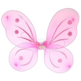 バタフライ ウイング 蝶の羽 フェアリーウイング 女の子 可愛い 写真小物 おもちゃ キッズコスチューム 全5色 - ピンク