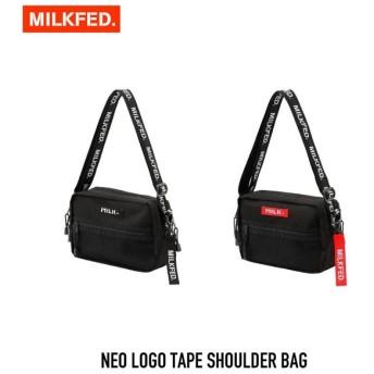 【クーポンで10%OFF!】ミルクフェド MILKFED. バッグ ネオ ロゴ テープ ショルダーNEO LOGO TAPE SHOULDER BAG 03182098 レディース