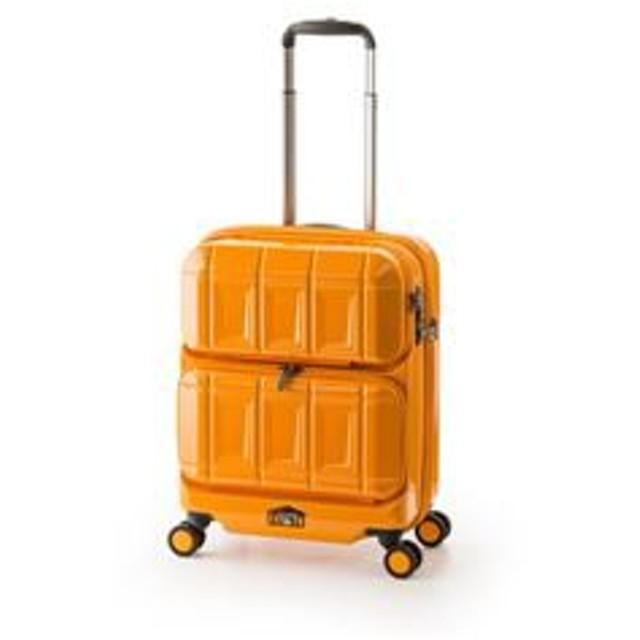 cf4b33bce9 スーツケース 【オレンジ】 36L 機内持ち込み可 ダブルフロントオープン アジア・ラゲージ 『