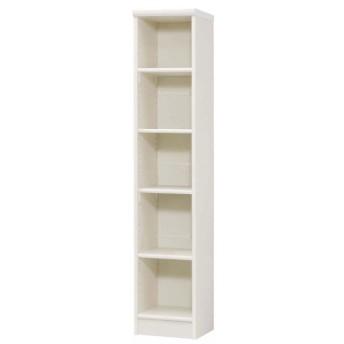 本棚 書棚 ブックシェルフ オープンラック 高さ150cm ホワイト