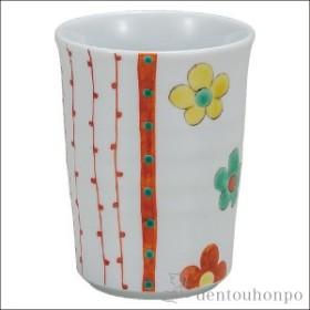 フリーカップ 花十草 ( 焼酎グラス ビアカップ ビールグラス フリーカップ グラス 九谷焼 結婚 出産 内祝い 引き出物 金婚式 )