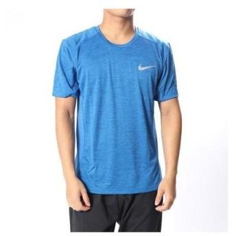 ナイキ NIKE メンズ 陸上/ランニング 半袖Tシャツ DRI-FIT マイラー S/S トップ 833592403 (ブルー)