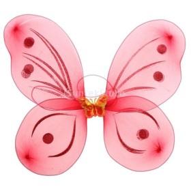 バタフライ ウイング 蝶の羽 フェアリーウイング 女の子 可愛い 写真小物 おもちゃ キッズコスチューム 全5色 - 赤