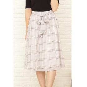 PROPORTION BODY DRESSING / プロポーションボディドレッシング  カラーグレンチェックリボンギャザースカート