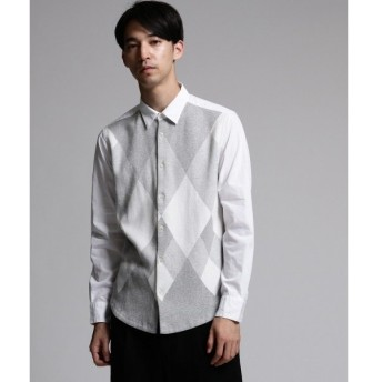 tk.TAKEO KIKUCHI / ティーケー タケオキクチ ランダムアーガイルニットドッキングシャツ