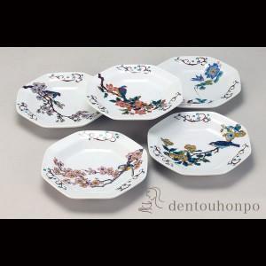 皿揃 花鳥絵変わり 5号 (  食器セット お皿 揃える 食器  食