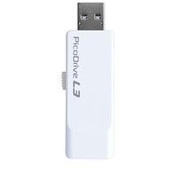 グリーンハウス USB3.0メモリー ピコドライブL3 32GB ホワイト GH-UF3LA32G-WH 目安在庫=○