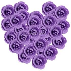 約100個セット 造花 薔薇 花嫁 パーティー 卒業式 誕生日 髪飾り 写真 DIY ガーランド 手首花作り 手工芸用 全13色選べ - 紫の