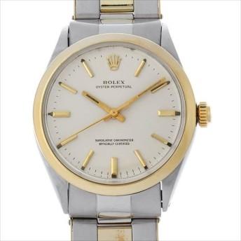 SALE 48回払いまで無金利 ロレックス オイスターパーペチュアル Cal.1560 26番 1005 シルバー/バー アンティーク メンズ 腕時計 キャッシュレス5%還元