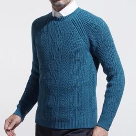エトロ ETRO クルーネック セーター ブルー メンズ ニット デザイン ウール 1m500-9769-252