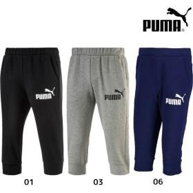 2018年NEWモデル プーマ PUMA エッセンシャル No.1 ロゴ 3/4 スウェットパンツ 593025 メンズ 3/4パンツ
