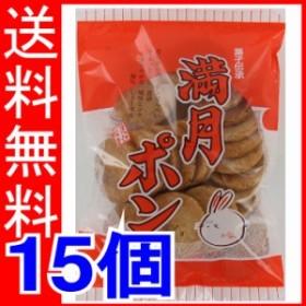松岡製菓 満月ポン 90g×15個 【送料無料】