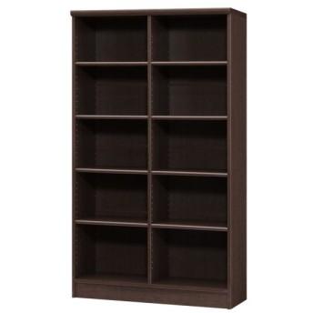 本棚 書棚 ブックシェルフ オープンラック 高さ150cm ダークブラウン