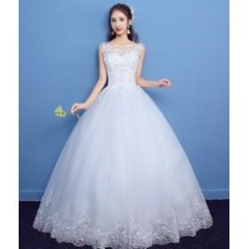 e9672c9c16f19 Wedding dress ウエディングドレス ロングドレス プリンセスラインドレス パーティー 袖なし