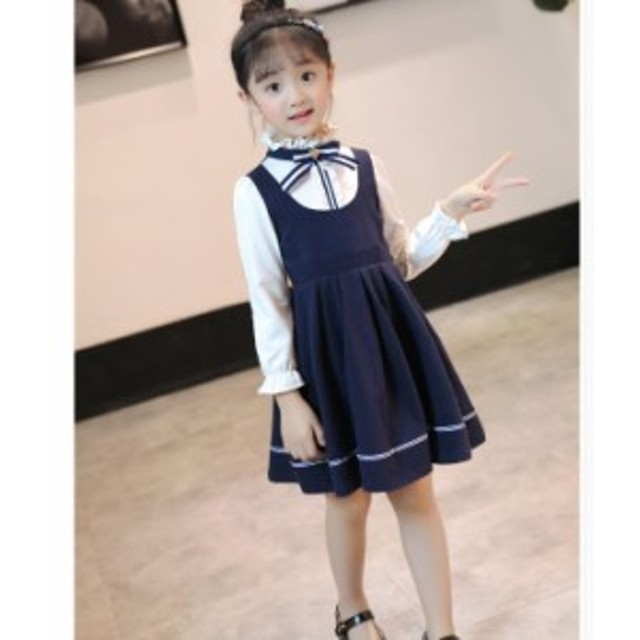 ab816d53c44a5 韓国風 キッズワンピース こども服 長袖ワンピース 女の子 森ガールキッズ衣装 おしゃれ 可愛い 韓国